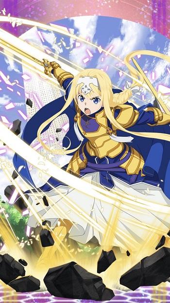 新☆6キャラ【秩序を守りし整合騎士】アリス(土・片手剣)のLV最大ステータス詳細!