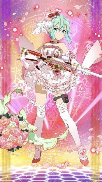 ☆6キャラ【秘めたる情熱】シノン(火・狙撃銃)のLV最大ステータス詳細!